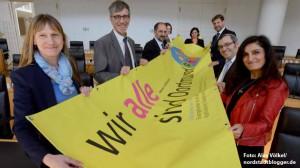 """Foto: Vertreter der Religionsgemeinschaften und der Stadt Dortmund laden zur Konferenz """"Wir alle sind Dortmund - Vielfalt anerkennen und Zusammenhalt stärken"""" am 25. September ins Rathaus ein."""