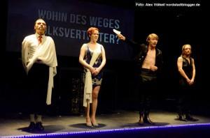 """Das Kollektiv Sir Gabriel Dellmann feierte mit """"Wohin des Weges Volksvertreter"""" Premiere im Theater im Depot."""