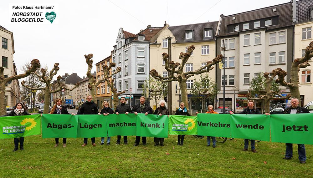 Die Fraktion Bündnis90/Die Grünen im Rathaus fordern am Borsigplatz die Verkehrswende