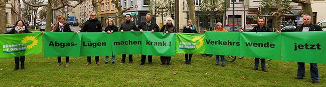 Als Quintessenz aus der Abgaslüge fordert die Fraktion der Grünen am Borsigplatz: Verkehrswende jetzt!