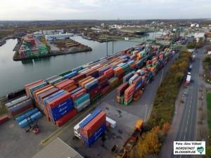 Das Container-Terminal Dortmund (CTD) platzt aus allen Nähten. Der Hafenbahnhof soll Entlastung bringen.