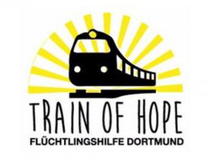 Das Logo der Internetseite Train of Hope Dortmund