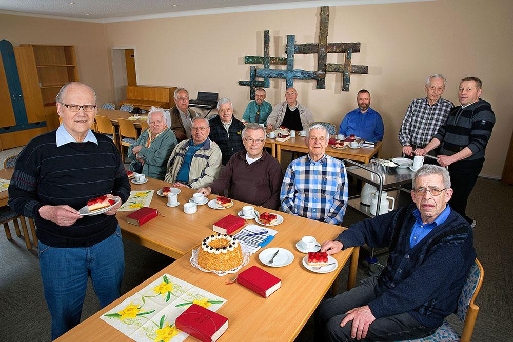 Der Männerkreis der Paulusgemeinde. Foto: Dietmar Wäsche