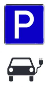 Wenn diese Schilder hängen, können Autos, die nicht laden, mit Knöllchen belegt werden.
