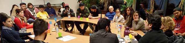 Jugendliche diskutierten über Syrien:  Journalist Ibrahim Mustafa zu Gast beim Jugendforum Nordstadt