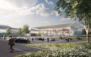 Aussenperspektive: So soll das neue Besucherzentrum aussehen. Bild: Westfalenhallen