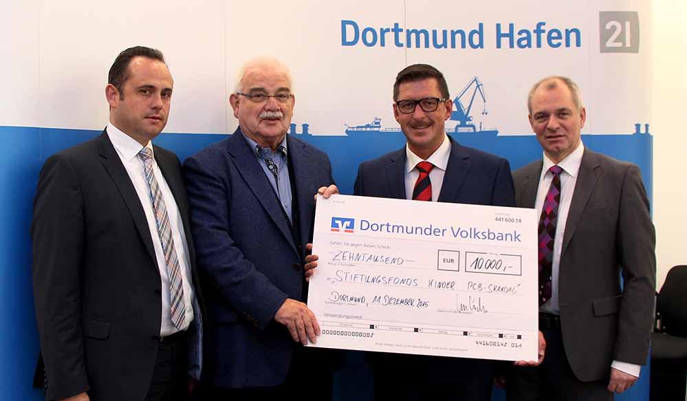 Der Dortmunder Hafen unterstützt die Familien mit 10.000 Euro. Foto: Hafen