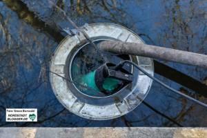 Der Hoeschpark steht teilweise schon wieder unter Wasser. Foto: Simon Bierwald