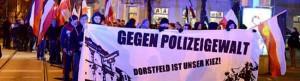 Neonazis - Demo gegen die Polizei im Nazi-Kiez Dorstfeld