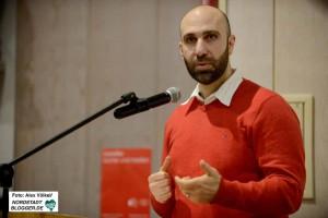 Ahmad Mansour hielt einen Vortrag in der AGNRW. Das Thema: Antisemitismus unter Muslimen - Woher kommt der Hass?