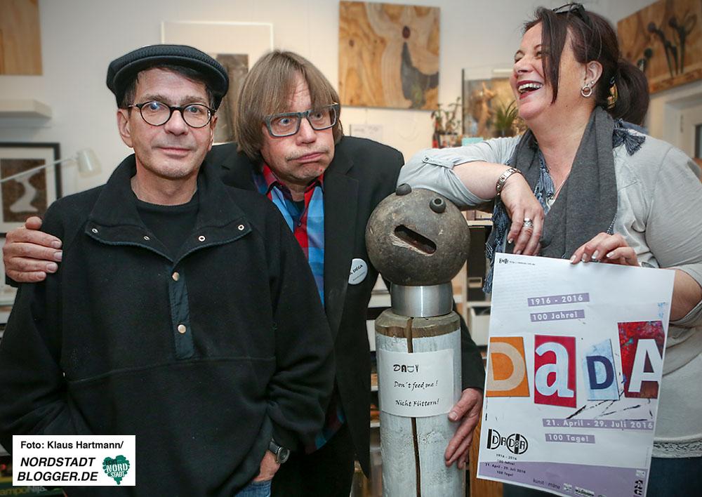 100 Jahre Dadaismus. Veranstaltungsreihe DADADO100. Sie sind ganz schön DADA: Das Projektteam DADADO 100 mit Richard Ortmann, Dieter Gawol und Anette Göke