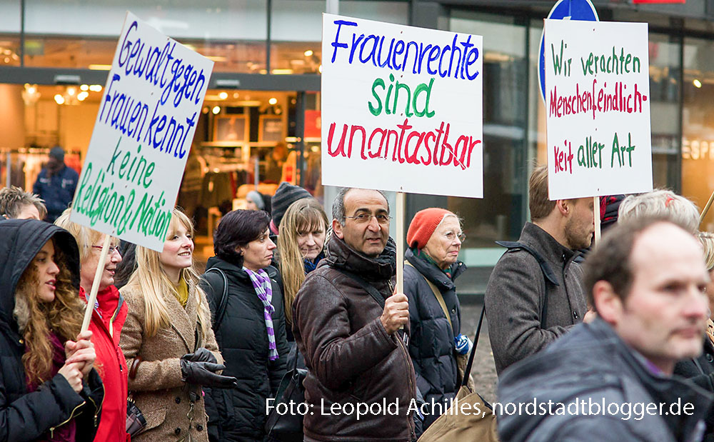 Demonstration unter dem Motto: 'Da hört der Spaß auf! Nein zu sexueller Gewalt'. Foto: Leopold Achilles