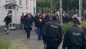 Im Nachgang der Kundgebung in der Stahlwerkstraße kam es zu den Vorfällen.