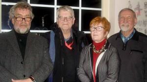 Der Geschäftsführende Vorstand: Wolfgang Sand (neuer Schriftführer), Dr. Wilhelm Grote (Vorsitzender) Maria Ziegler (Kassiererin) und Manfred Kreuzholz (Stellv. Vorsitzender).