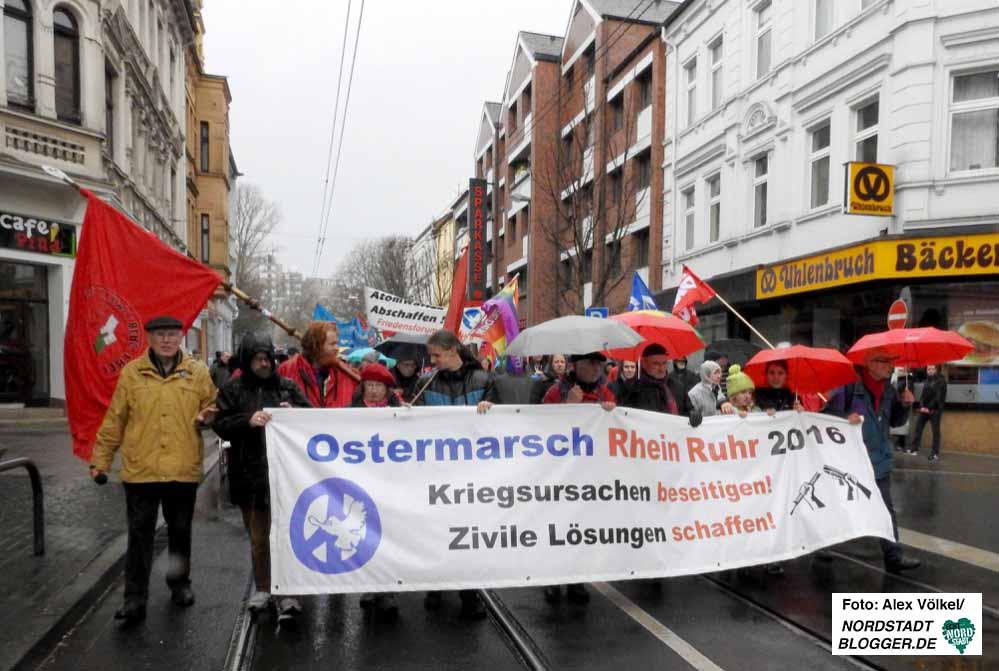 Am dritten Tag endete der Ostermarsch Rhein-Ruhr traditionell in Dortmund.
