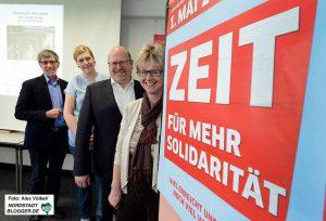 Friedrich Stiller, Michael Vogt, Marijke Garretsen und Jutta Reiter werben für die Veranstaltungen.