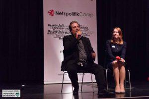 Die beiden Moderatoren des Tages: Vivian Pein und Stefan Evertz
