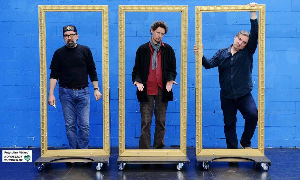 Marek Kot, André Wülfing und Berthold Meyer stellen das Stück vor.