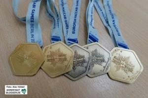Vater und Tochter haben zehn Medaillen bei den jüdischen Europameisterschaften gewonnen.