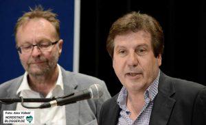Ulrich Pichota und Frank Binder stellten die aktuellen Flüchtlingszahlen vor.