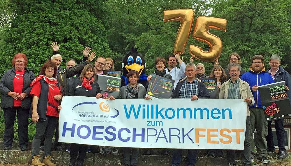 Das Vorbereitungsteam freut sich auf das 11. Hoeschparkfest am 5. Juni. Foto: Joachim vom Brocke