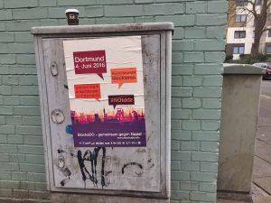 """""""BlockaDO""""-Plakat in der Nordstadt."""