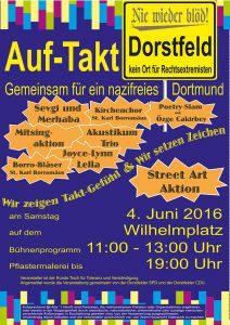 Plakat Musikfest 4.6.16 Wilhelmplatz, Auf-Takt