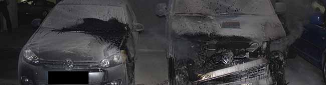 Brennende Streifenwagen an der Nordstadt-Wache: Polizei sucht Zeugen der Brandstiftung – 60.000 Euro Schaden