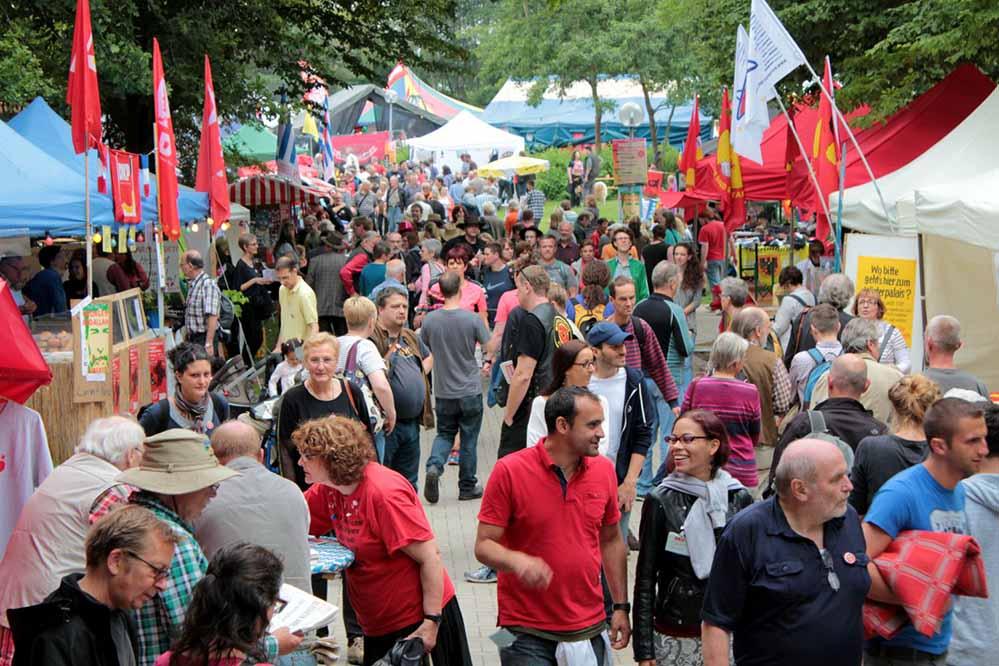 Im Revierpark Wischlingen findet am Wochenende das UZ-Pressefest statt.