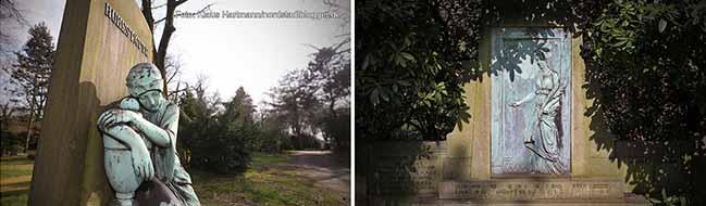 Bedeutende Kunstgegenstände auf dem Nordfriedhof gestohlen – Relief und Statue aus Bronze verschwunden
