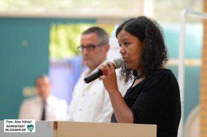Isabelle Spieker, kommissarische Leiterin der Anne-Frank-Gesamtschule, steht für gelebte Integration.