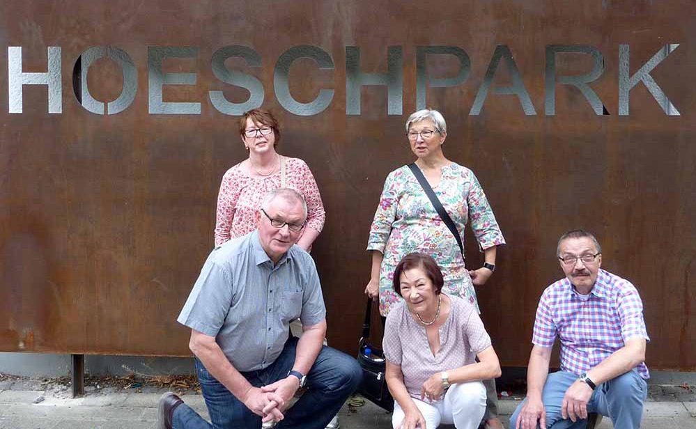 Nach 50 Jahren der erste Besuch im Hoeschpark. Damals in den 50er und 60er Jahren waren die Frauen jahrelang jeden Tag im Park.