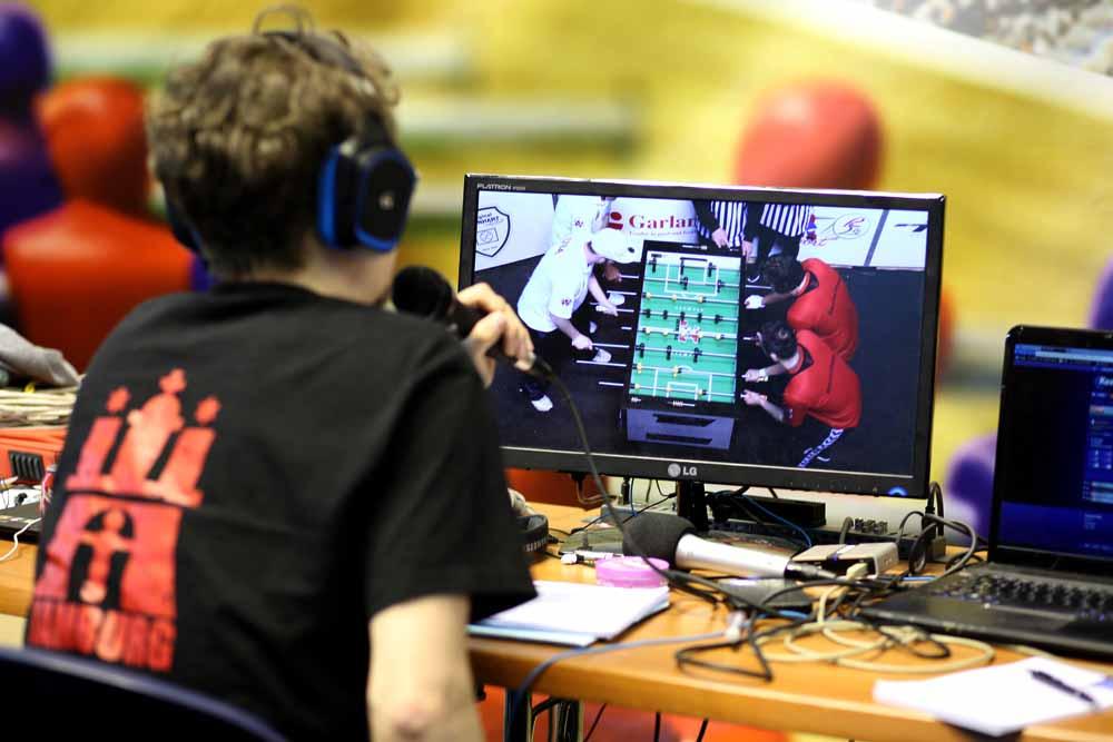 Die Turnier werden live übertragen. Foto: Divyam Täschler/ DTFB