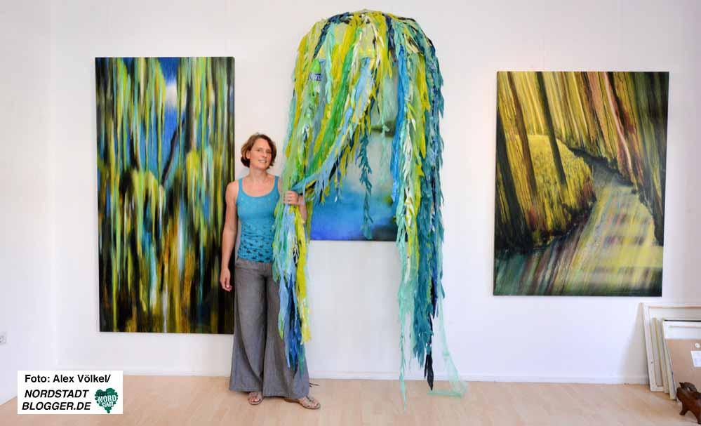 Anne Yannik hat die Natur als Kraftquelle künstlerisch umgesetzt.