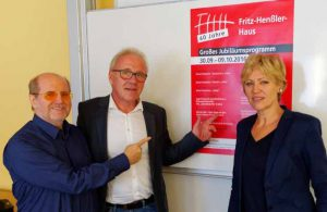 Bernd Weber, Klaus Burkholz und Daniela Schneckenburger freuen sich auf die Jubiläumswoche.