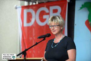 Die DGB-Vorsitzende Jutta Reiter.