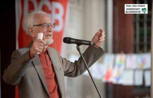 Mahnende Worte sprach Ehrengast Dr. Erhard Eppler in Dortmund.