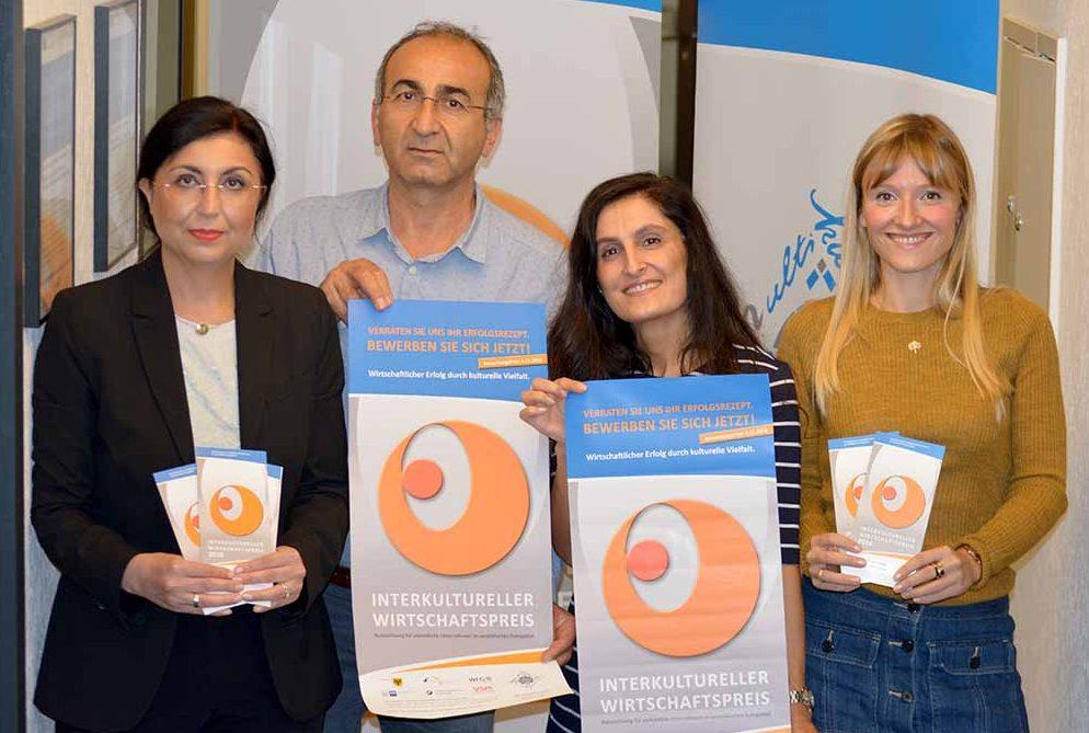 Werben für den Preis: Die Partner des IWP.