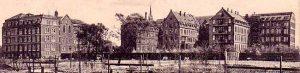 Das Brüder-Krankenhaus um 1915 - Ansicht vom Garten aus. Repros: Sammlung Klaus Winter