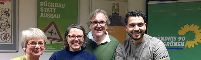 Landtag: Barbara Brunsing, Svenja Noltemeyer, Mustapha Essati und Ulrich Langhorst treten für die Grünen an
