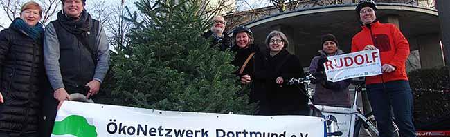 ÖkoNetzwerk Dortmund verkauft Bio-Weihnachtsbäume und pflanzt Obstbäume vom Überschuss der Vorjahresaktion