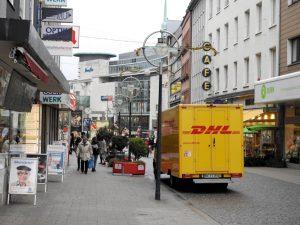 In der Wißstraße - eine Fußgängerzone - wird mittlerweile regelmäßig das Parken geahndet.