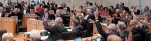 Der Rat der Stadt Dortmund hat mit den Stimmen von SPD und CDU den Haushalt verabschiedet.