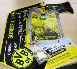 Eine Vielzahl von BVB-Devotionalien werden am 19. Dezember versteigert.