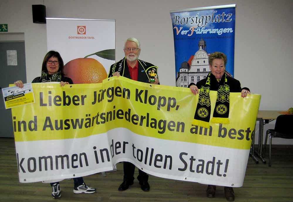 Zu Gunsten der Dortmunder Tafel ist der Erlös der schwarzgelben Gründerzeit bestimmt.