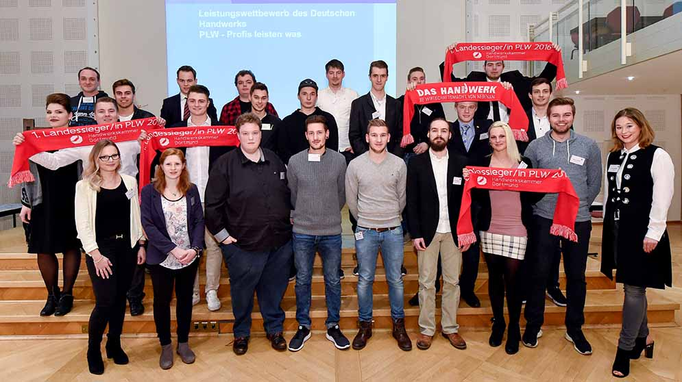 43 GesellInnen haben beim Leistungswettbewerb des Deutschen Handwerks auf Kammer-, Landes- oder Bundesebene gesiegt. Foto: Andreas Buck/ HWK