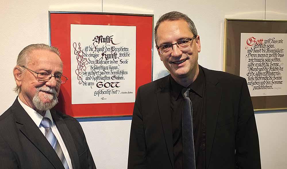 Reinhard Tromp (l.) und Ulf Schlüter wissen beide Luthers Zitate zu schätzen.