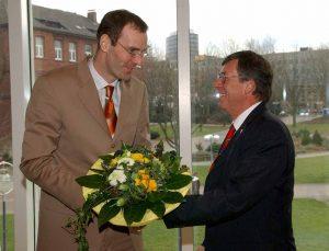 Am 17. März 2005 wurde Stampa vom Rat als Intendant bestellt - der damalige OB Dr. Gerhard Langemeyer gratulierte als Erster.