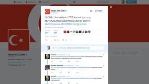 Der AKP-Abgeordnete Metin Külünk fordert DITIB-Mitglieder auf, gegen das ZDF und damit den Satiriker Böhmermann Strafanzeige zu stellen.