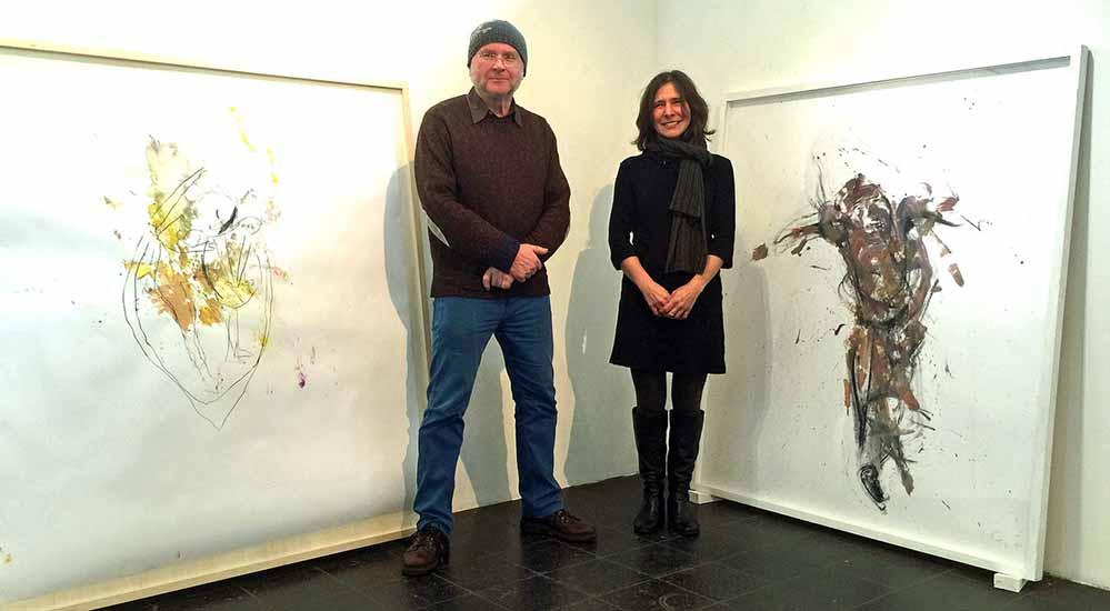"""""""Der vierte Ton"""" ist Titel der Ausstellung von Hiltrud Zierl und Rolf Schanko in der Galerie Dieter Fischer."""